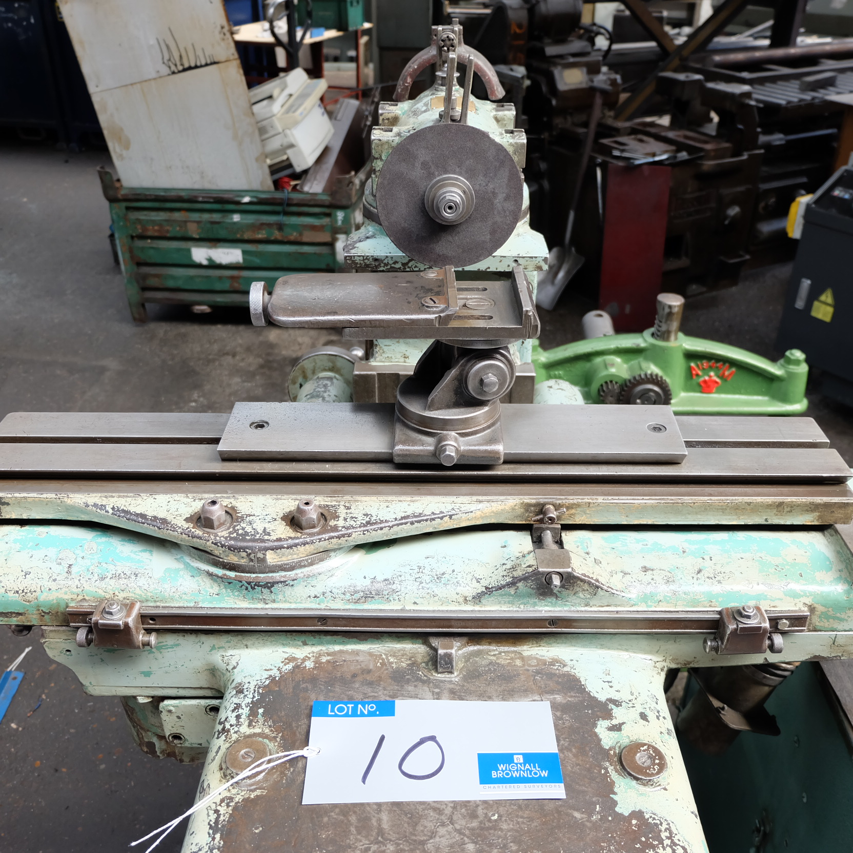Lot 10 - An Alfred H Schutte WU3 Tool and Cutter Grinder with dust extraction unit.