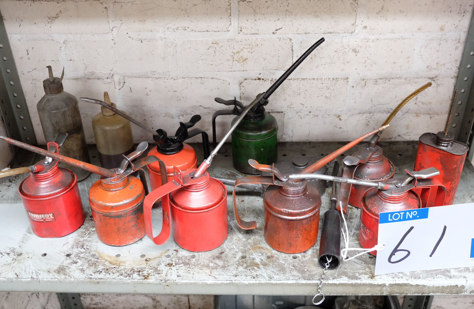 Lot 61 - Assorted Oil Guns (at least 8).