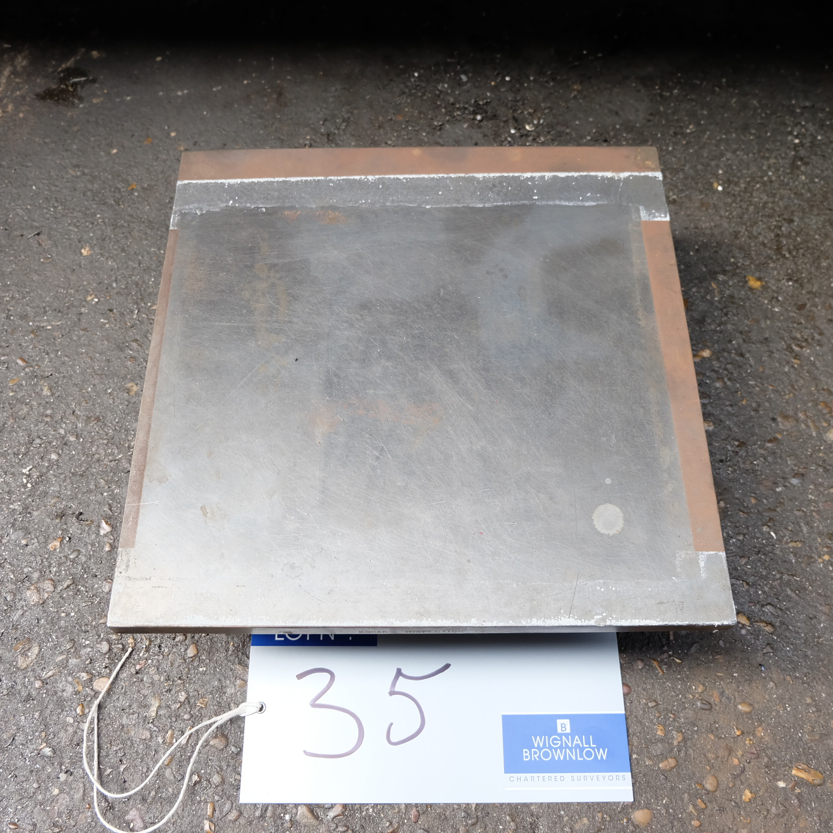 Lot 35 - A Cast Iron Surface Plate, 12in x 12in.