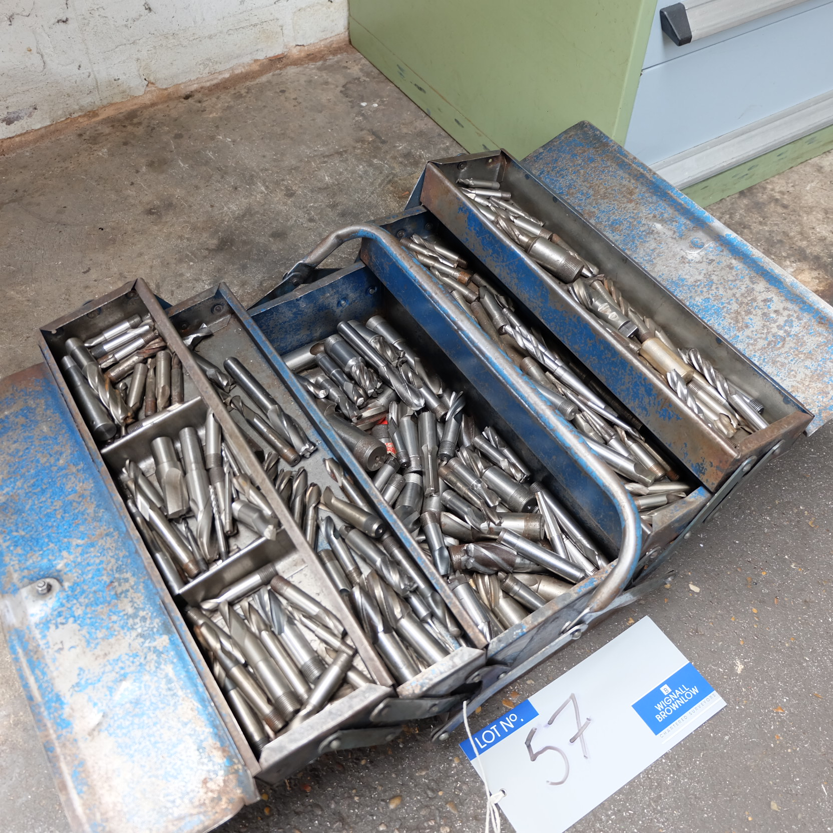 Lot 57 - Assorted Milling Cutters and Tool Box.