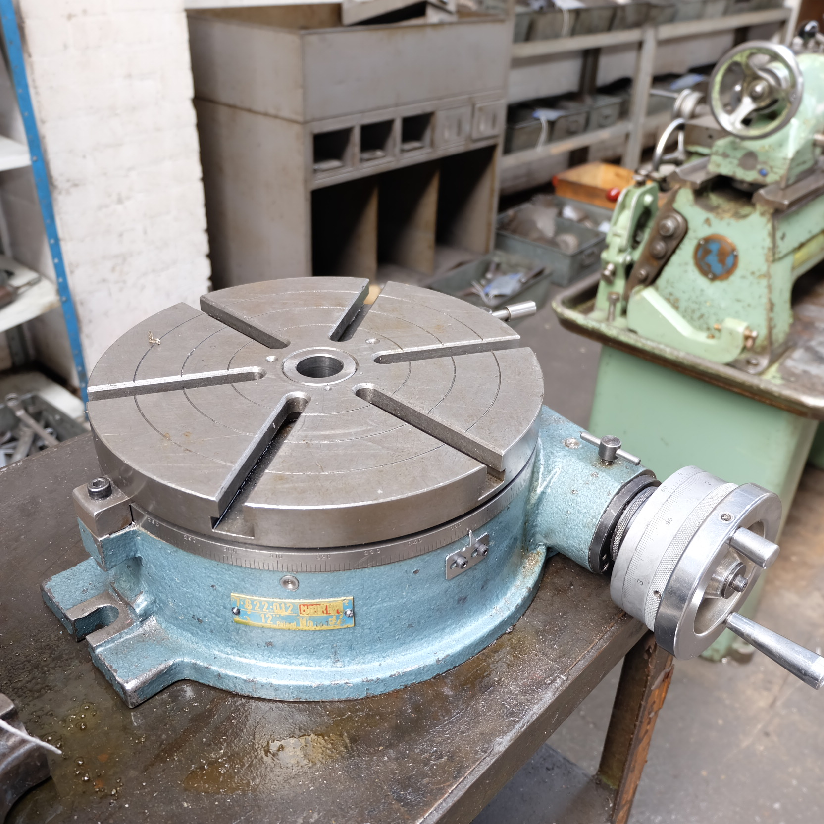 Lot 43 - A 12in dia Rotary Milling Table.