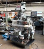 Lot 13 - An XYZ KRV3000 Vertical Turret Head Milling Machine No.6056, 48in x 12in table with Acu-Rite