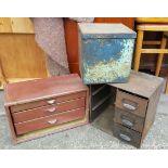 Vintage Retro Metal Drawers & Tins NO RESRVE