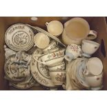 Vintage Box Dinner & Tea Services Indian Tree & Other Items NO RESERVE