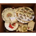 Vintage Retro Box China Includes Wedgwood Royal Doulton Collectable Bells NO RESERVE