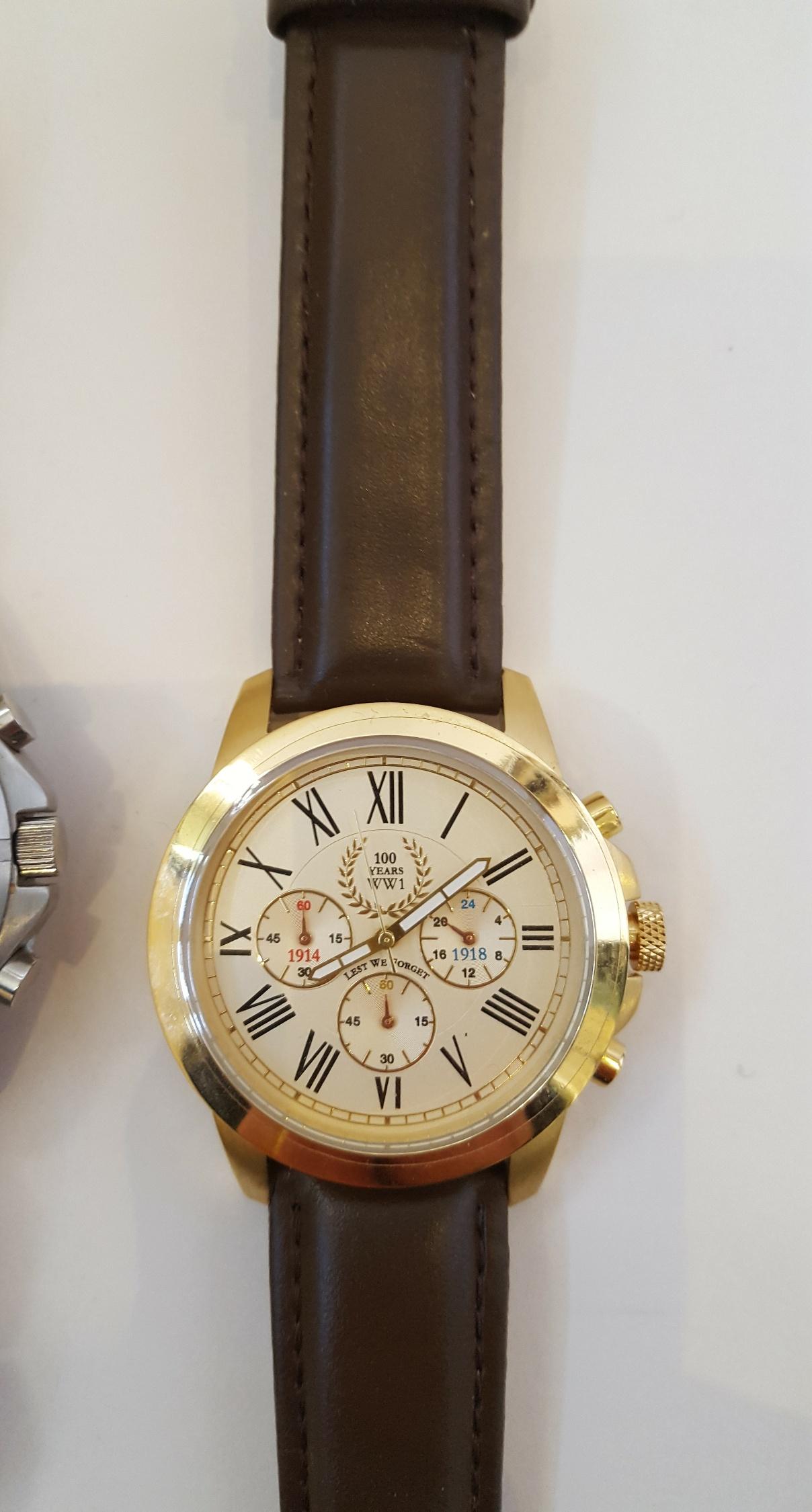 Lot 20 - Vintage Wrist Watches 1 x Royal Marine Commando & 1 x Lest We Forget WWI Rememberance Watch