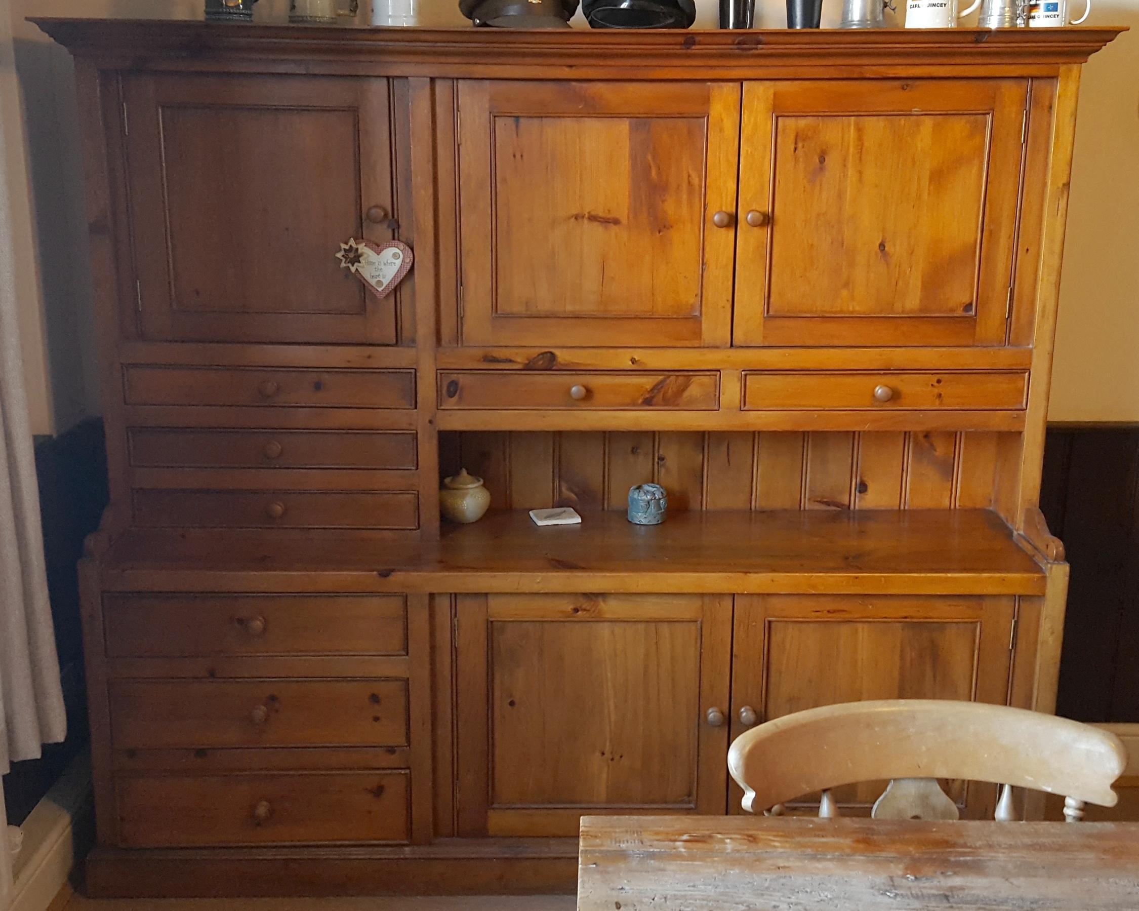 Lot 24 - Vintage Handmade Bespoke Pine Farmhouse Dresser