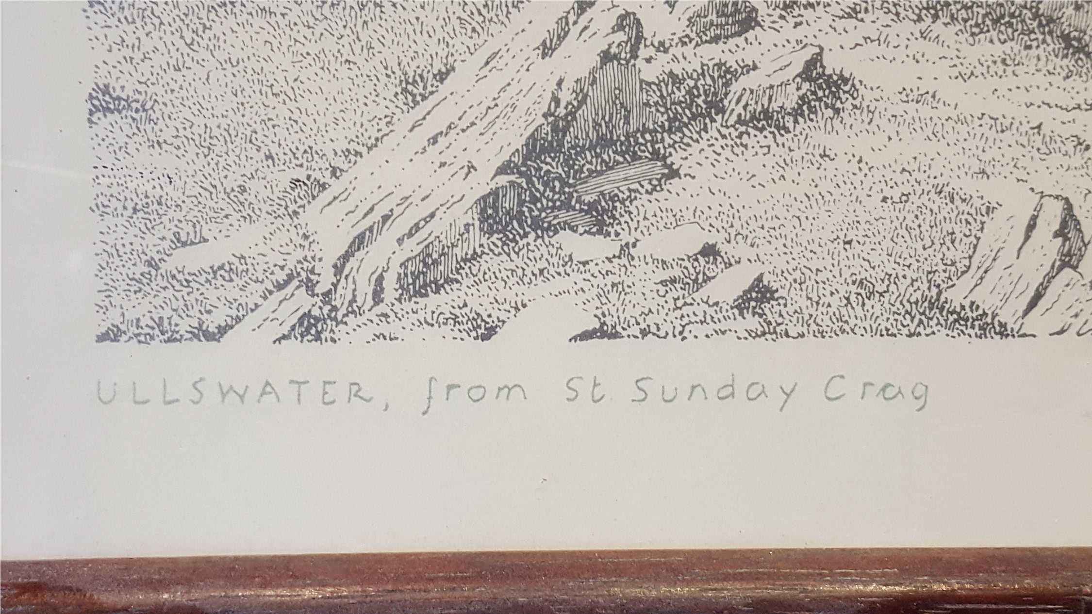 Lot 11 - Antique Vintage Prints. Georgian 'Blinds Man's Buff' Colour Print & Wainwright Ullswater Signed