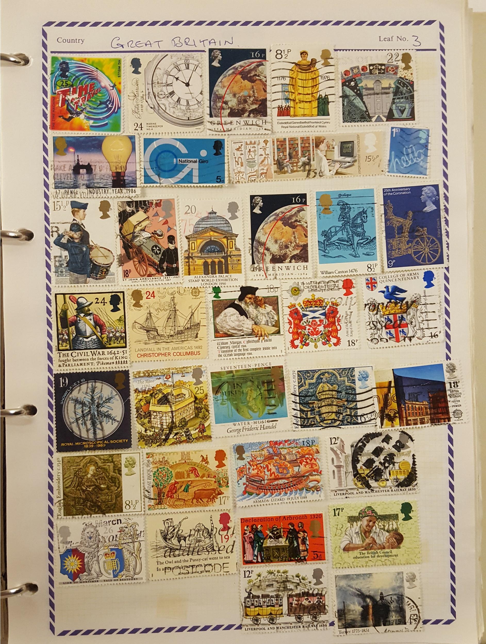 Lot 56 - Philatelia Stamp Album Loose Leaf 600 Plus Great Britain Commonwealth & World Stamps