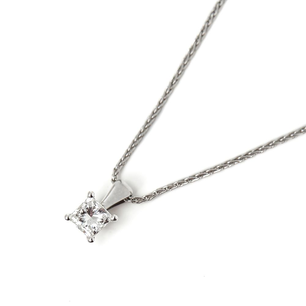 Silver Turkish Platinum: Mappin & Webb Platinum 0.70ct Diamond Necklace GENDER W