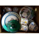 Antique Vintage Retro Box of Assorted China Glass Treen Pottery & More NO RESERVE
