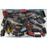 Vintage Model Trains Box of 00 Gauge Rolling Stock 20 plus items