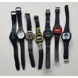Vintage Retro Parcel of 7 LCD Watches Includes Collecetable BMX Watches