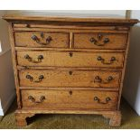 Vintage Oak Set of Drawers 2 over 3