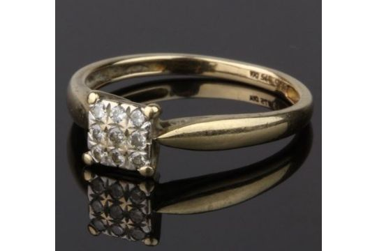 A Diamond Cluster Ring No Hallmarks Total Diamond Content Approx
