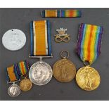 Military Medals WWI PT G. Thompson 18307 Cheshire R. Pt. H Hill 73180 Welsh R. Plus Miniatures
