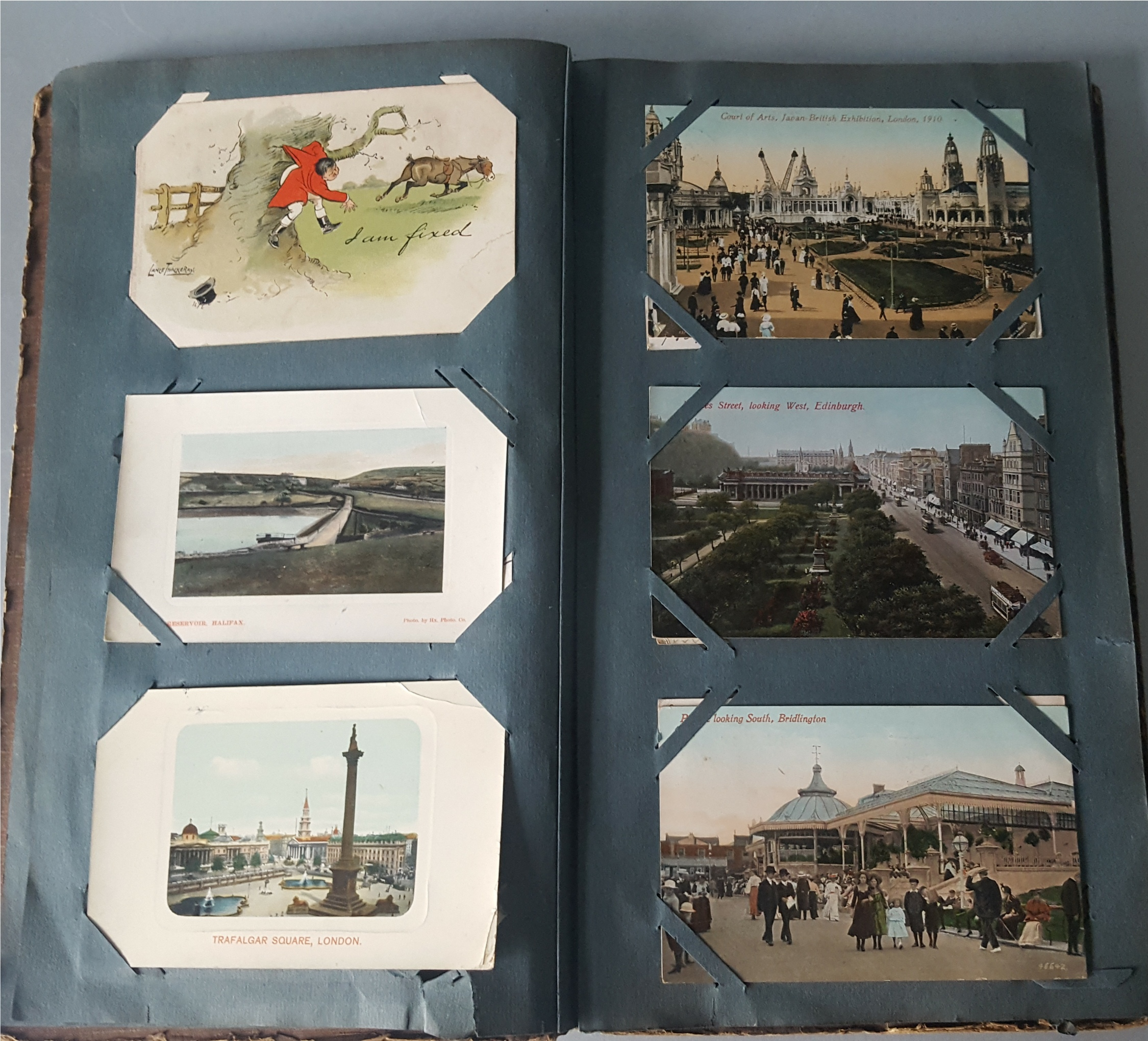 Lot 19 - Antique Vintage Postcard Album Over 90 Plus Postcards c1905