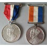 Vintage Medals Commemorative Coronation of King George V 1911 & King George VI 1937 NO RESERVE