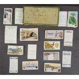 Antique Vintage Collection of 150 plus Cigarette Cards in a De Reszke Cigarette Tin