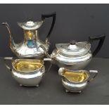 Vintage Silver Plated 4 Piece Tea & Coffee Set
