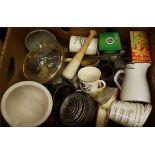 Antique Vintage Retro Box of Kitchenalia