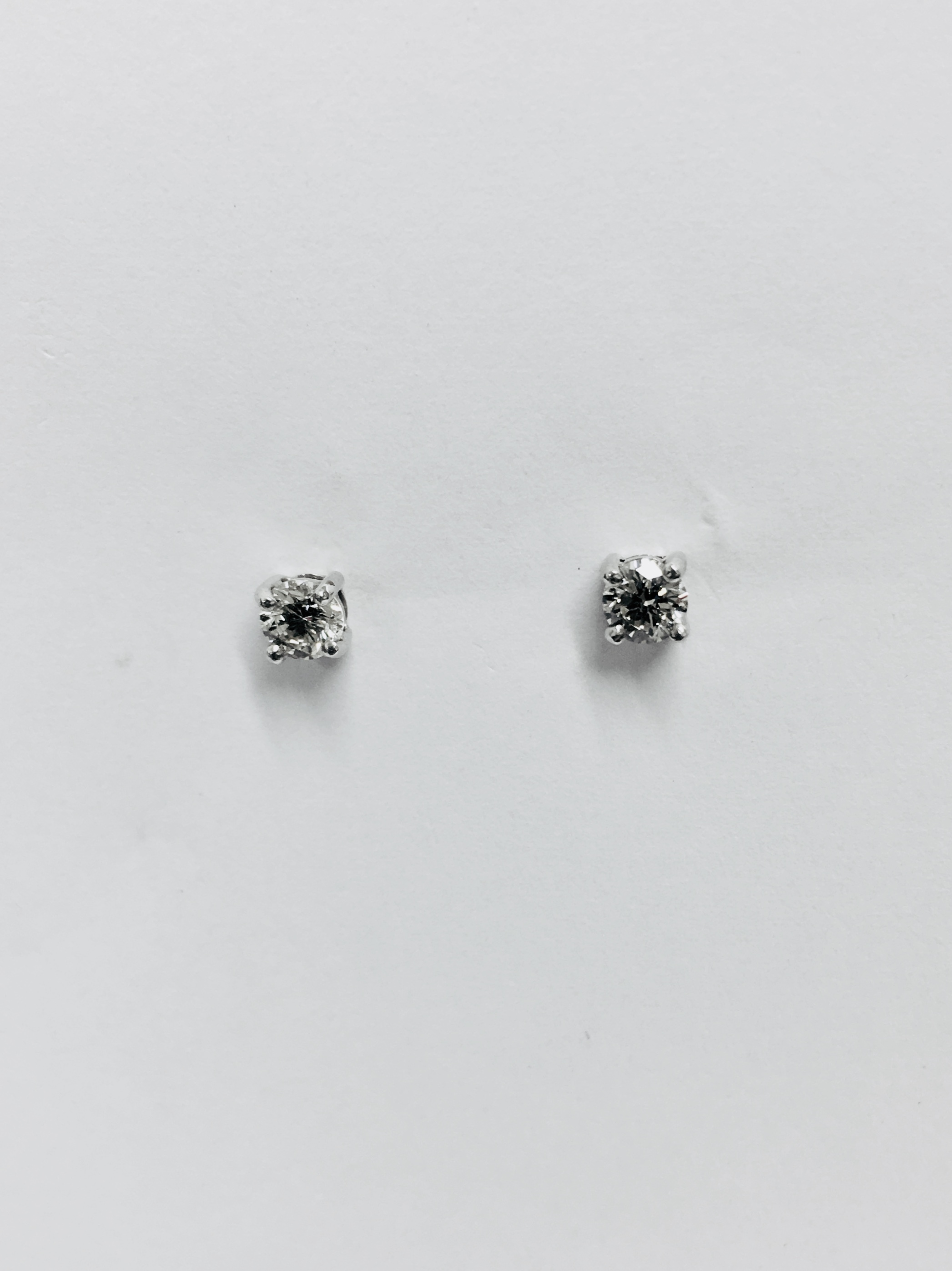 brilliant diamond solitaire platinum round in claw set white jewellery studs gold stud earrings
