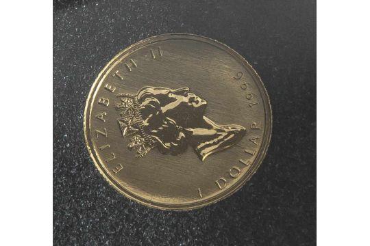 1 M252nze Canada 1 Dollar 1996 Gold 120 Fein Elizabeth Ii