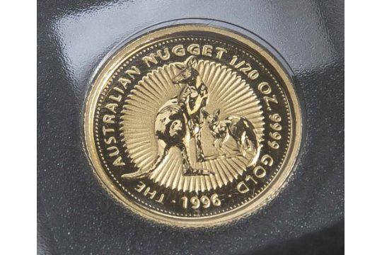 1 Münze, Australien, 5 Dollar, 1996, Gold, 1/20 oz, The Australian ...