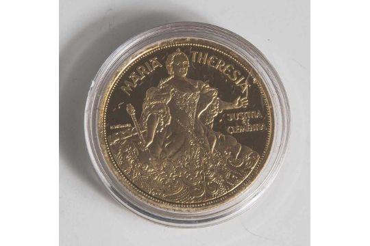 1 Münze, Österreich, 1000 Schilling, 1993, Gold, Maria Theresia, PP ...