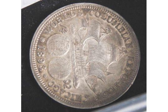1 Münze, USA, 1/2 Dollar, 1893, Silber, Christoph Kolumbus, vz.