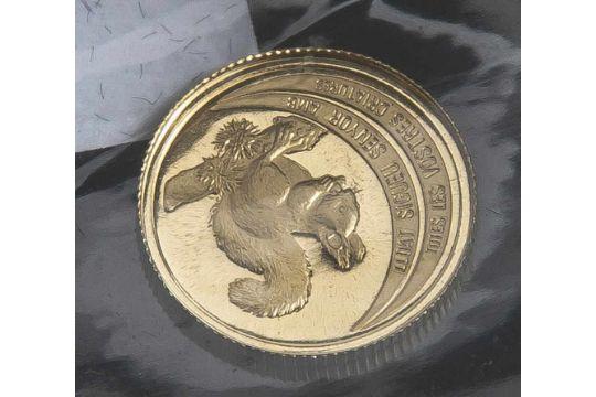 1 Münze, Andorra, 5 Diners, 1994, Gold, Eichhörnchen, PP.