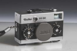 Kamera, Rollei 35 SE, Rollei - HFT, Nr. 2801820, Sonnar 2,8/40. Im Kunstlederetui. Altersgemäßer,