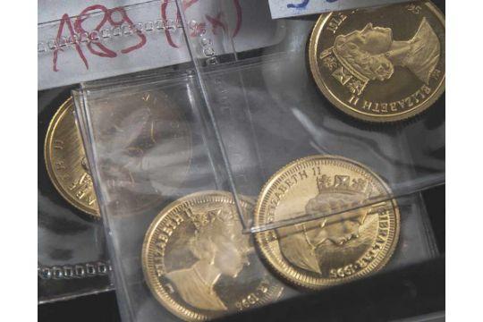 Konvolut Von 5 M252nzen Gold Pp Elizabeth Ii Bestehend Aus A