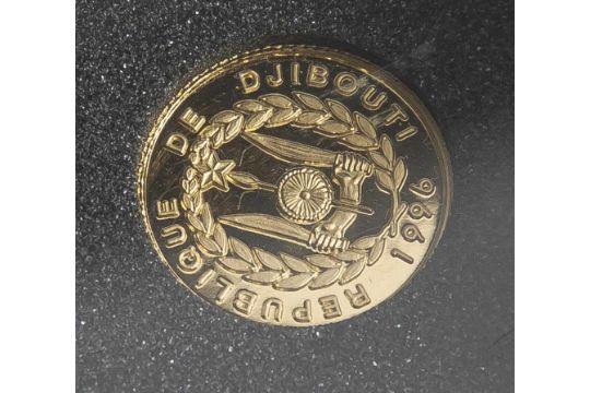 1 Münze, Dschibuti, 250 DJF (Dschibuti-Franc), 1996, Gold, Histoire ...