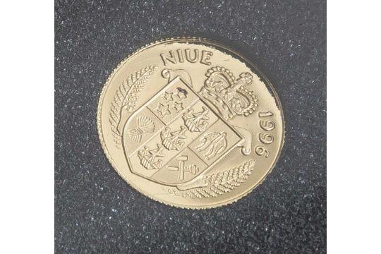 1 Münze, Niue, 25 Dollar, 1996, Gold, The Bounty, PP.