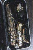 Saxophon, Conn 20 M, Eb Altosaxophon, Baujahr 1988, Seriennr. 3817184, Messingkorpus mit verchromten