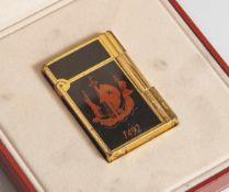 "Dupont-Feuerzeug, ""1492"", Columbus, limitierte Edition, Nr. 312 von 3000, mit China-Lack, ca. 55,4 x"