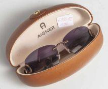 Damen-Sonnenbrille, Aigner, schöner Zustand, im originalen Etui.
