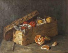 Scholderer, Franz Otto (1834-1902), Stillleben mit Südfrüchten, Öl/Lw., li. u. monogrammiert, ca. 40