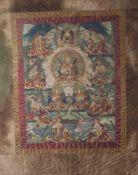 Thangka, wohl Tibet 1. Hälfte 19. Jahrhundert, Darstellung: die 8 Manifestationen des Padmasambhava,