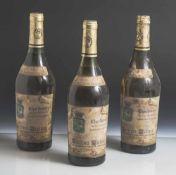 3 Flaschen Blanc de Blancs, Chardonnay Cotes du Jura, Henri Maire, Frankreich Chateau Montfort,