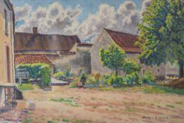 Cariot, Gustave Gaston (1872-1950), Bäuerliches Gehöft in Auxy/Frankreich, Öl/Spannholzplatte, re.