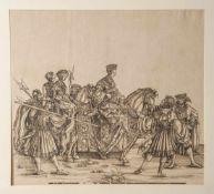 Springinklee, Hans (1480-1540), Holzschnitt aus dem grafischen Werk: Triumphzug des Kaiser