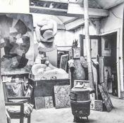 Maywald, Willy (1907-1985), Otto Freundlichs Atelier in Paris Rue Henri Barbuse, 1949,