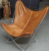 Hardoy Chair (auch Butterfly Sessel genannt), Entwurf 1939 von Ferrari-Hardoy, das hier angebotene