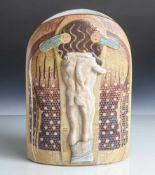 Vase, Goebel, Artis Orbis, Unterbodenmarke mit Auflage 590/1000, Porzellan, polychrom bemalt,
