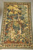 Wandteppich, wohl neuzeitlich, Wolle. Ca. 200 x 117 cm.