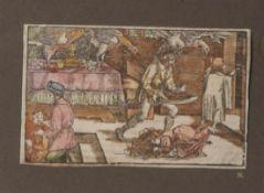 Weiditz, Hans (um 1500 - 1536), Farbholzschnitt aus Petraca No. 28, ca. 10,2 x 16,2 cm, ungerahmt.