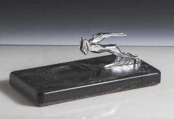Kühlerfigur, USA, Chrysler Imperial, 1950er Jahre, Metallguss, Gazelle verchromt, montiert auf