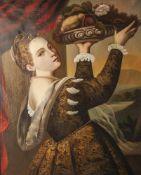 Unbekannter Kopist (Ende 19. Jahrhundert), Mädchen (Lavinia) mit Fruchtschale, nach Tizian, ca.